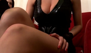 Glam eurobabes share cock in perverted threeway