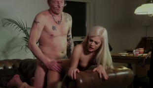 Mature man fucks gorgeous blonde angel Candee Licious