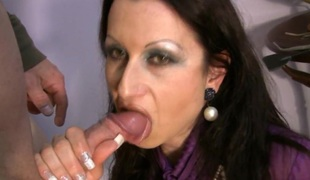 milf fetish brunette store pupper blowjob
