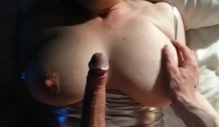 Large tit wife blindfolded