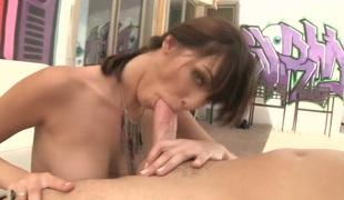 brunette anal hardcore deepthroat blowjob
