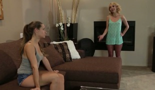 Jodi Taylor gives giving blowjob stimulation to her horny group-sex buddy