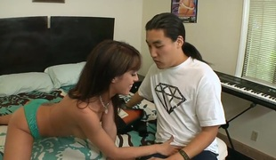 Capri Cavalli getting her soaking juicy wet gap banged by hot man