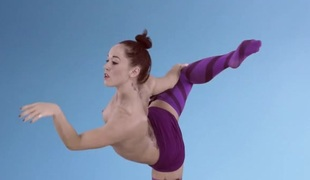 Ballet dancing beauty with a super fit body