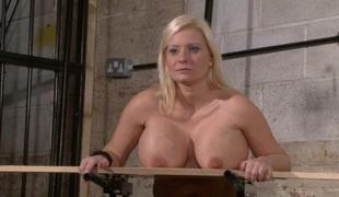 Tit nailing punishment of busty Melaniev