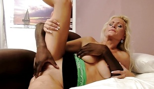 Stunning blonde loves biggest cock