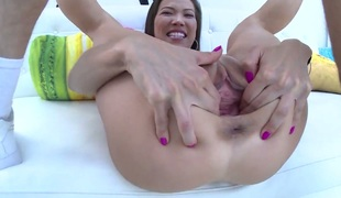 Mike Adriano attacks adorable Kalina RyuS mouth with his love torpedo