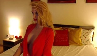 Hot Blonde Teasing On Cam