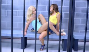 Skinny cowgirl with sexy nice ass moaning when fucked in prison