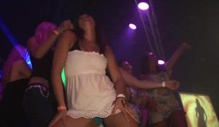 Lovely hot ass porn hottie Aliyssa Moore in a nasty lesbian fuck scene