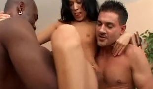 Melissa and Janelle get rammed in an interracial foursome