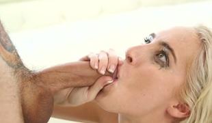 tenåring vakker blowjob sædsprut facial