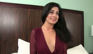 Slutty girl Nadia Ali fucked brutally in a doggy position