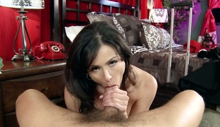 Ramon copulates Kendra Longing with giant tits in her mouth as hard as possible in oral job act