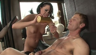 Rocco Siffredi buries his palpitating sausage in amazingly hot Alizs asshole previous to she gets her mouth fucked