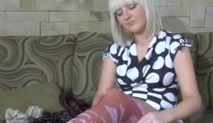 Cora featured in pantyhose movie