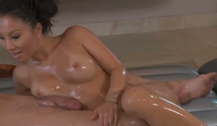 Dark brown Asa Akira wants Billy Glides schlong to fuck her beaver hard