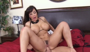 Johnny Sins makes his throbbing meat stick disappear in breathtakingly nice-looking Lisa Anns love tunnel
