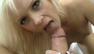Dolly Spice gulps Rocco Siffredis erect cock