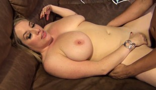 Huge tit Maggie Green gets eaten out and screwed using a vibrator