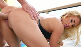 Blonde stunner Olivia Fox boned hard in a doggy position
