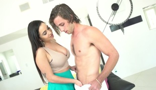 Naughty Karlee Grey deepthroats big dick like a pro