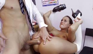 brunette anal blowjob ridning stor kuk