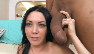 Megan Foxx makes guy unload spunk upon her face