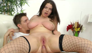 Dude fucks anus and big mounds of brunette Marina Visconti