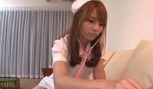 Tight Japanese Nurse's pussy makes him feel much more excellent