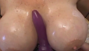 Large dick squeezed tight between gazongas