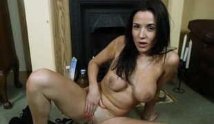 Sensual British JOI from a large breasted chick
