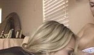 Incredible pornstars Lexi Marie and Jezebelle Bond in crazy blonde, cunnilingus sex movie