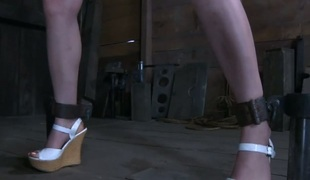 Serf receives lusty butt whipping before cookie torturing