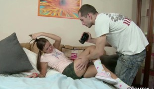 Brother Seduce Petite Step-Sister for Porn Casting Episode