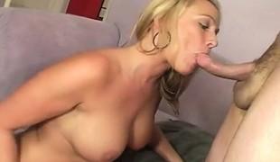 blonde hardcore milf blowjob massasje
