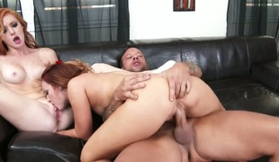 Kurt Lockwood gets his always hard sausage used by Exotic Dani Jensen with tiny booty and hairless twat