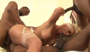 Sean Michaels gets enjoyment from fucking devilishly sexy Holly Hearts mouth after she takes it in her booty