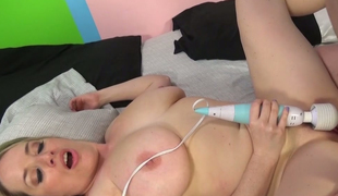 Super busty blond Maggie Green is impaled on big cock