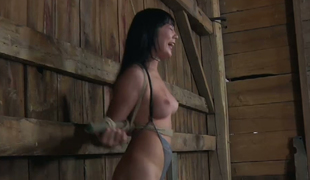 Beautiful Asian slave Nyssa Nevers is tied and spanked
