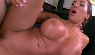 Tanned slut with big tits Richelle Ryan is drilled from behind