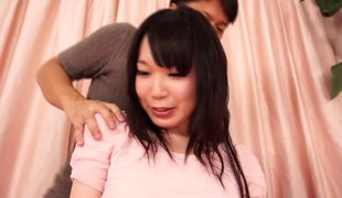 Fondling the big love bubbles Asian sweetheart and pounding her pussy