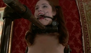 Misery from a group punishment liberates wanton slut