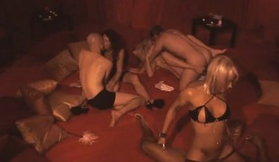 New couple gets amazed by the swinger lifestyle on this orgy