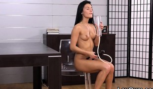 Exquisite czech peach lexi dona fingers and gets off
