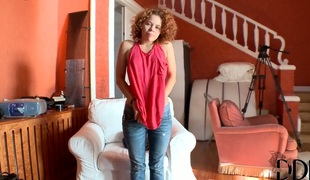 Teen Sunny kills time playing with herself