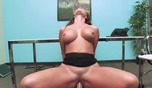 Hot office slut Destiny Dixon fucking the big 10-Pounder boss