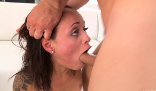 Sultry girl with a heavenly ass gets double drilled for the first time