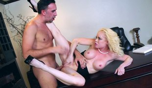 Sexiest blond called Nikki Delano getting bonked in all positions