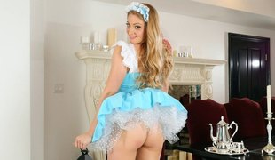 Hottest maid in the entire city wishes us to see her sweet pussy